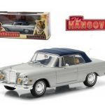 1969 Mercedes 280 SE Convertible Top Up Damaged with Tiger The Hangover Movie (2009) 1/43 Diecast Model Car by Greenlight