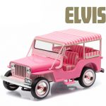 1960 Jeep Surrey CJ3B Pink Jeep Elvis Presley (1935-1977) 1/43 Diecast Model Car  by Greenlight