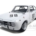 Alfa Romeo GT Giulia Am Monza 1970 Hezemans White #98 1/18 Diecast Car Model by Autoart