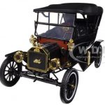 1915 Ford Model T Touring Soft Top Black 1/18 Diecast Car Model by Motorcity Classics