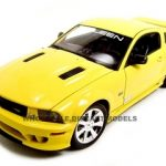 2007 Ford Mustang Saleen S281E Yellow 1/18 Diecast Car by Welly
