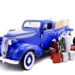 1937 Studebaker Pickup Truck Blue With Accessories 1/24 Diecast Truck by Unique Replicas