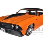 1969 Chevrolet Chevelle SS Orange 1/24 Diecast Model Car by Jada