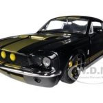 1967 Ford Shelby Mustang Gt-500 Black with Gold Stripes 1/24 Diecast Car Model by Jada