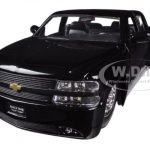 1999 Chevrolet Silverado Dooley Black 1/24 Diecast Car Model by Jada