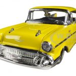 1957 Chevrolet Bel Air Yellow 1/24 Diecast Car Model by Jada
