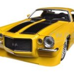 1971 Chevrolet Camaro SS Yellow 1/24 Diecast Car Model by Jada