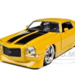 1971 Chevrolet Camaro Yellow With Black Stripes 1/24 Diecast Model Car by Jada