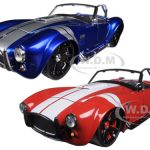 1965 Shelby Cobra 427 S/C Blue & Red 2 Cars Set 1/24 Diecast Model Cars by Jada