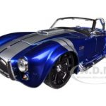 1965 Shelby Cobra 427 S/C Candy Blue With Silver Stripes 1/24 Diecast Model by Jada