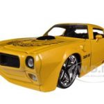 1972 Pontiac Firebird Trans Am Yellow 1/24 Diecast Car Model by Jada