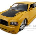 2006 Dodge Charger R/T Daytona Hemi Yellow 1/18 Diecast Model Car by Jada