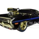 Chase Car 1970 Dodge Challenger R/T 75th Mopar Anniversary Black Limited to 100pc Worldwide 1/18 Diecast Model Car by M2 Machines