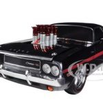 1970 Dodge Challenger R/T Black Ground Pounders 1/18 Limited to 300pc Worldwide by Diecast Model Car  M2 Machines