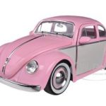 1959 Volkswagen Beetle 2-Tone Pink/Cream 1/24 Diecast Car Model by Jada