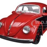 1959 Volkswagen Beetle Red / Black 1/24 Diecast Car Model by Jada