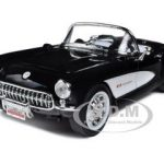 1957 Chevrolet Corvette Black 1/18 Diecast Car Model by Road Signature
