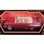 1957 Chevrolet Bel Air Convertible Red 1/18 Diecast Model Car by Road Signature