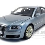 Audi A8 W12 Silver Gray 1/18 Diecast Model Car by Kyosho