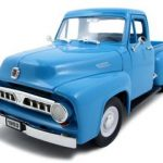 1953 Ford F-100 Pickup Light Blue 1/18 Diecast Car by Road Signature