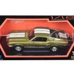 1968 Ford Shelby Mustang GT500KR Gold 1/18 Diecast Car Model by Road Signature