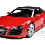 Audi R8 V10 5.2FSi Quattro Spyder Red 1/18 Diecast Model Car by Kyosho