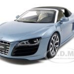 Audi R8 V10 5.2 FSI Spyder Blue 1/18 Diecast Model Car by Kyosho