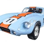 1965 Shelby Cobra Daytona #11 Blue 1/18 Diecast Car Model Road Signature