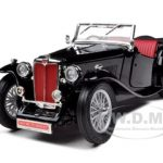 1947 MG TC Midget Black 1/18 Diecast Model Car by Road Signature