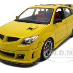 2003 Pontiac Vibe GTR Yellow 1/18 Diecast Car by Road Signature