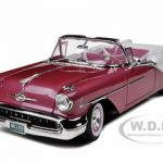 1957 Oldsmobile Super 88 Purple 1/18 Diecast Model Car by Road Signature