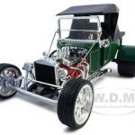 1923 Ford T-Bucket Soft Top Green 1/18 Diecast Model Car by Road Signature