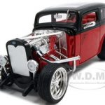1931 Ford Model A Custom Red/Black Custom 1/18 Diecast Model Car by Road Signature