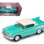 1957 Chevrolet Bel Air Turquoise 1/43 Diecast Model Car by Road Signature