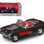 1957 Chevrolet Corvette Black 1/43 Diecast Model Car by Road Signature