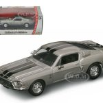 1968 Shelby GT 500 KR Silver 1/43 Diecast Car by Road Signature