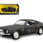 1968 Ford Shelby Mustang GT 500 KR Matt Black 1/43 Diecast Model Car by Road Signature