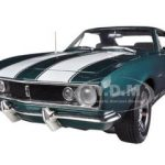 1967 Chevrolet Camaro Z/28 Tahoe Turquoise Limited to 256pc Worldwide 1/18 Diecast Model Car by Autoworld
