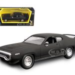 1971 Plymouth GTX Matt Black 1/43 Diecast Model Car by Road Signature