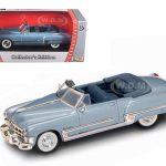 1949 Cadillac Coupe De Ville Metallic Blue 1/43 Diecast Car by Road Signature