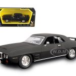 1969 Pontiac Firebird Trans Am Matt Black 1/43 Diecast Model Car by Road Signature