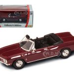 1969 Chevrolet Corvair Monza Burgundy 1/43 Diecast Model Car by Road Signature