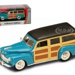 1948 Ford Woody Turquoise 1/43 Diecast Car by Road Signature