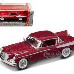 1958 Studebaker Golden Hawk Garnet/Burgundy 1/43 Diecast Car Model by Road Signature
