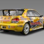 Subaru Impreza #2 Fujitsubo Yoshida 1/43 Diecast Model Car by HPi Racing