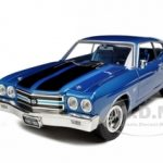 1970 Chevrolet Chevelle SS 396 Lemans Blue 20th Anniversary of American Muscle Edition Limited Edition 1 of 1000 Produced Worldwide 1/18 Diecast Model Car by Autoworld