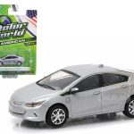 2016 Chevrolet Volt Silver 1/64 Diecast Model Car by Greenlight