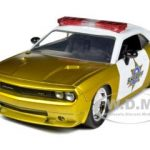 2008 Dodge Challenger SRT8 Sheriff Gold 1/24 Diecast Car Model by Jada