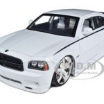 2006 Dodge Charger SRT8 Hemi Lopro White 1/18 Diecast Model Car by Jada