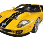 2005 Ford GT Yellow 1/24 Diecast Car Model by Jada